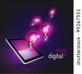 stylish conceptual digital... | Shutterstock .eps vector #99267551