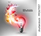 stylish conceptual digital... | Shutterstock .eps vector #99267557