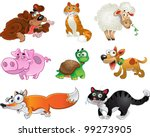 bis set of funny pig  dogs ... | Shutterstock .eps vector #99273905