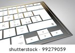 blank button on modern computer keyboard - stock photo
