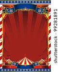 american old striped circus... | Shutterstock .eps vector #99281891