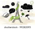 i love rainy day  vector eps 10   Shutterstock .eps vector #99282095