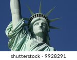 This is the Statue of Liberty Face - stock photo