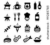 barbeque icons set elegant... | Shutterstock .eps vector #99285785