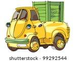 pickup   cartoon   Shutterstock .eps vector #99292544
