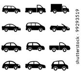 auto,automobile,black,car,car icon,cargo,clip art,convertible,design,drawing,graphic,icon,icon set,illustration,isolated