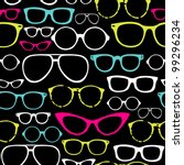 retro seamless spectacles | Shutterstock .eps vector #99296234