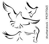 animal,bird,black,design,dove,elegant,element,emblem,fine,flight,flock,fly,free,freedom,graphic