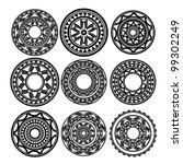 maori   polynesian style tattoo | Shutterstock .eps vector #99302249