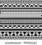 maori   polynesian style... | Shutterstock .eps vector #99302261