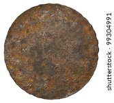 Rusty Round Metal Plate Texture