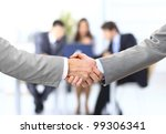 handshake isolated on business... | Shutterstock . vector #99306341