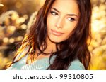 beautiful young woman portrait  ... | Shutterstock . vector #99310805