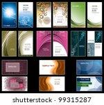 business card templates. vector ... | Shutterstock .eps vector #99315287