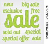 sale titles | Shutterstock .eps vector #99320975