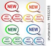 big set of stickers speech... | Shutterstock .eps vector #99332255