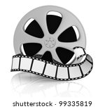 front view of a film reel with...   Shutterstock . vector #99335819