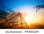 high voltage post.high voltage... | Shutterstock . vector #99340109