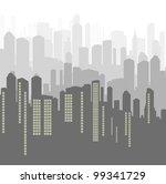 city vector background panorama | Shutterstock .eps vector #99341729