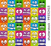 funny colorful emotions... | Shutterstock .eps vector #99352415