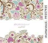 retro floral background | Shutterstock .eps vector #99357935