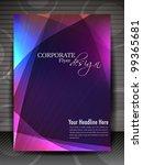 corporate transparent flyer ... | Shutterstock .eps vector #99365681
