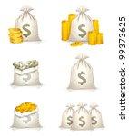 bags of money  bitmap copy | Shutterstock . vector #99373625