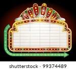 retro sign. | Shutterstock .eps vector #99374489