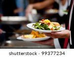 a person in line with their... | Shutterstock . vector #99377234
