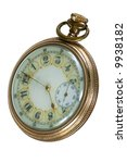 100 Year old antique pocket watch - stock photo