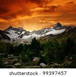 Sunset On The Ober Gabelhorn  ...