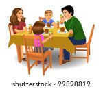 family dinner | Shutterstock .eps vector #99398819