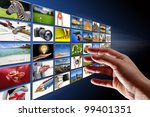 hand reaching streaming... | Shutterstock . vector #99401351
