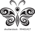 silhouette of a butterfly from... | Shutterstock .eps vector #99401417