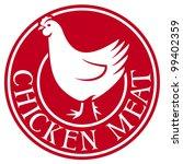 chicken meat label | Shutterstock .eps vector #99402359