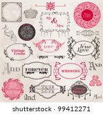 wedding vintage frames and... | Shutterstock .eps vector #99412271