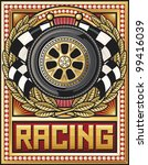 sports race design  wheel ... | Shutterstock .eps vector #99416039