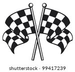 Two Crossed Racing Checkered...