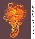 tattoo heart | Shutterstock .eps vector #99419525