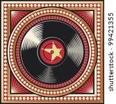 Vinyl Disc Retro Design  Record