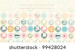 faded spring rounds card | Shutterstock .eps vector #99428024