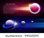 space abstract background with... | Shutterstock .eps vector #99435095
