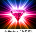 colorful diamond on bright...