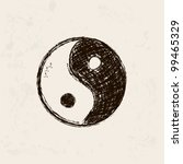 yin and yang artistic hand...   Shutterstock .eps vector #99465329