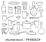 household objects and dishes... | Shutterstock .eps vector #99480629