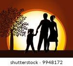 walking familly | Shutterstock .eps vector #9948172