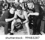 Boxer In Corner With Trainers