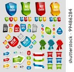 design elements  tags  stickers ... | Shutterstock .eps vector #99486284