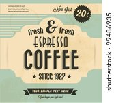retro vintage coffee background ... | Shutterstock .eps vector #99486935