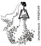 elegant bride   Shutterstock .eps vector #99489149